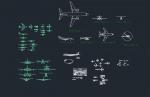 فایل اتوکد آبجکت انواع هواپیما و هلی کوپتر