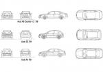 فایل اتوکد آبجکت خودروی آئودی مدل های A4،S3 و A6