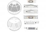 فایل اتوکد طراحی سالن کنسرت دایره ای شکل همراه با پلان ها و برش ها
