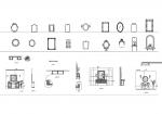 فایل اتوکد آبجکت انواع آینه دیواری