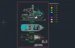 فایل اتوکد آبجکت انواع قایق ماهیگیری