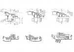 فایل اتوکد طراحی خانه آبشار (پلان و نما و برش)