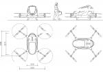 دانلود فایل اتوکد آبجکت هواپیمای بدون سرنشین مسافری